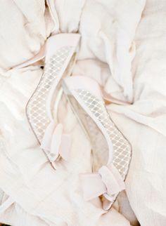 Glam feminine shoes: http://www.stylemepretty.com/wisconsin-weddings/2015/02/20/vintage-romance-wedding-inspiration/ | Photography: Amanda Nippoldt - http://www.amandanippoldt.com/