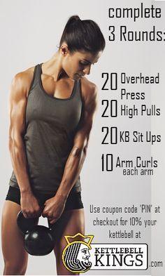 #kettlebell workout, kettlebell exercise, kettlebell circuit #cardioworkoutchallenge