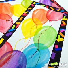 Art Lesson: Color Mixing Balloons – Art with Mrs. Color Wheel Lesson, Color Wheel Projects, Color Wheel Art, 3rd Grade Art Lesson, Third Grade Art, Grade 3 Art, Color Art Lessons, Art Lessons For Kids, Kindergarten Art Lessons