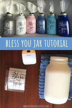 Bless You Jar Tissue Dispenser DIY