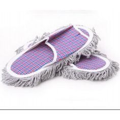 Hot New 1 pair Dust Mop Slippers Shoes Floor Cleaner Clean Easy
