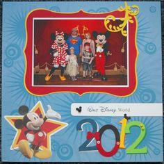 disney ek success scrapbook layout | EK Success - Disney - Mickey Mouse Collection - 12 x 12 Paper Pad