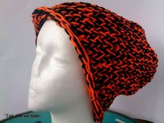 Halloween  Harley Davidson Colors Knit Crochet by TiffSitsandKnits, $15.00