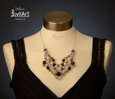 Beaded statement necklace  timeless chic  One of a by LovliArt