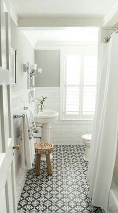 QUADROSTYLE offers you a fun & affordable way to update your home for a fraction of the cost. Our PEEL N' STICK tile adhesives look like REAL tiles. Make over your tiles in an afternoon. Theyre opaque so they cover your old tiles Do not apply o Bad Inspiration, Bathroom Inspiration, Wedding Inspiration, Bathroom Renos, Master Bathroom, Tiled Bathrooms, Bathroom Renovations, Bathroom Wall, Small Bathrooms