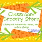 Classroom grocery store is a fantastic math activity! It has so many variations (money, rounding, addition, and subtraction) and can be played throughout the elementary grades! $