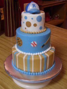 sports baby shower By ton247 on CakeCentral.com