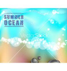 Sea stones and ocean vector - by annbozhko on VectorStock®