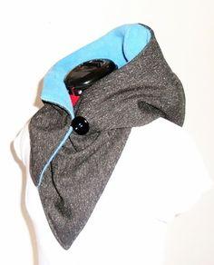 Nähanleitg. Accessoires - E-Book - KapuzenSchal - kuschelig und warm - ein Designerstück von SchnittFUN bei DaWanda