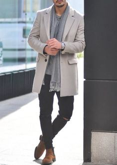 35 Classy Winter Outfits for Men Ideas to Copy Right Now - Fashion Mode, Urban Fashion, Fashion Styles, Fashion Trends, Fashion News, Stylish Men, Men Casual, Casual Look For Men, Mantel Outfit