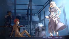 """jeanneapocrypha: """" From Shirou route - See the world by Jeanne. Capsule Servant - Full English translation, translated by Kotonoha from Beast Lair (Spoiler content). Fate Stay Night, Best Funny Pictures, Funny Images, Shao Jun, Saga, One Punch Anime, Type Moon Anime, Jeanne Alter, Funny Memes"""