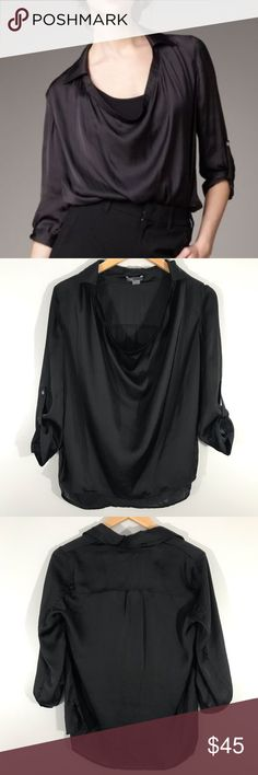 """b4be27cd4c Approx Measurements Length  24"""" Pit to Pit  21"""" Sleeve length  19"""" 192  Vince Tops Blouses"""