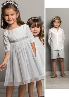 Neck and Neck Cute Girl Dresses, Flower Girl Dresses, Wedding With Kids, Fes, Cute Girls, Marie, Kids Outfits, Kids Fashion, Bridesmaid