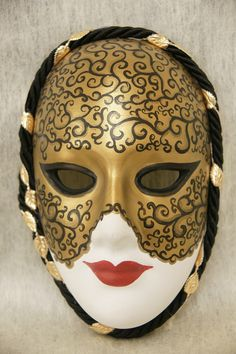 """Venetian Mask"" - hand painted, made of plaster of paris."