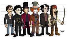 Johnny-Depp-Cartoons-Johnny-Depp-Edward-Scissorhands-Willy-Wonka-Mad-Hatter-Sweeney-Todd-Jack-Sparrow.png (1038×600)