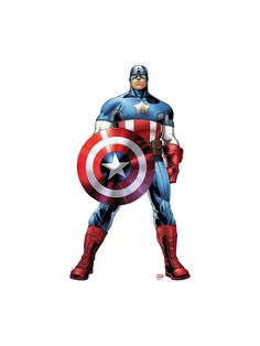 Captain America Cardboard Standup Decoration - Themed Balloons & Party Supplies