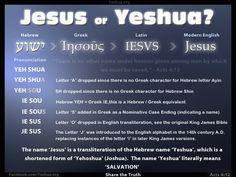Jesus or Yeshua? - languages!
