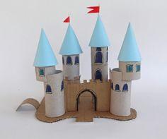 recycler le rouleau de papier toilette, château de peincesse astucieux