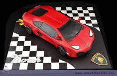 Sweet Passion Cakery – Custom cakes for all occasions Lamborghini Aventador, White Lamborghini, Adult Birthday Cakes, Dad Birthday, Beautiful Cake Designs, Car Themed Parties, Minnie Mouse, Car Themes, Exotic Sports Cars