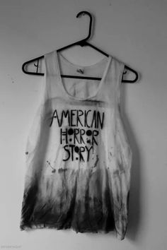 t-shirt american horror story black white grey movies tv ahs tate evan peters