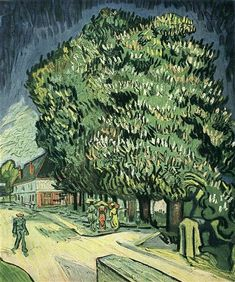 Chestnut Trees in Blossom, 1890 by Vincent van Gogh. Post-Impressionism. cityscape. Private Collection