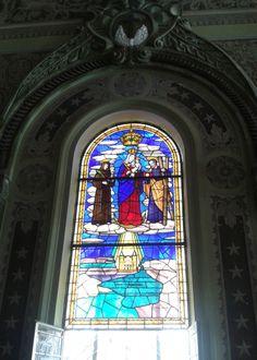 Vitral de la Virgen del Chiquinquirá, La Chinita, Basílica de Maracaibo, edo. Zulia, Venezuela.