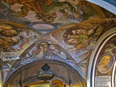 Interior of Littera, Ceiling Frescoes by Maud and John, via Flickr;  Vilnius