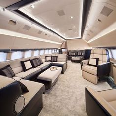 20 Private Plane Interiors Nicer Than Your House – luxury life Jets Privés De Luxe, Luxury Jets, Luxury Private Jets, Private Plane, Best Interior Design, Home Interior, Luxury Interior, Private Jet Interior, Luxury Helicopter