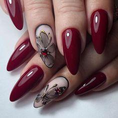 Fingernail Designs, Red Nail Designs, Nail Designs Spring, Acrylic Nail Designs, Faded Nails, Pink Nails, Toe Nail Art, Toe Nails, Unicorn Nail Art