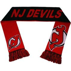 NHL Forever Collectibles Reversible Split Logo Scarf, New Jersey Devils, Red