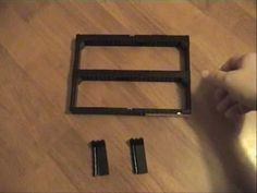 Creating an internal Lego frame for minifigs to fit into the smaller Ikea RIBBA frame.