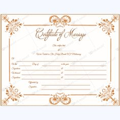 Marriage Certificate 05 - Word Layouts Marriage Certificate, Certificate Templates, Layouts, Words, Day, Marriage License, Horse