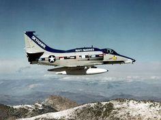 A-4 Skyhawk in flight