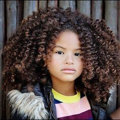 This little girl is so cute and has a ton of thick curly hair...glad I dont have to worry about combing it every day.lol natual hair styles for black women | Amazing Curls! | Black Women Natural Hairstyles #xmas_present #Black_Friday #Cyber_Monday