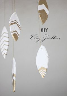 DIY: clay feathers