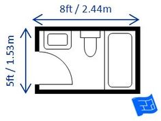 Full bathroom dimensions (bath / shower combination with toilet and sink) 5ft x 8ft (1.5m x 2.4m). This is based on the minimum size of the bath so if ...