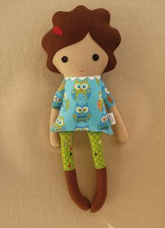 Fabric Doll Rag Doll.
