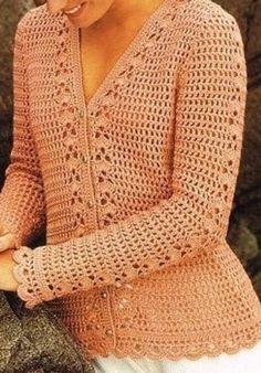 Crochet Cardigan Pattern, Crochet Jacket, Crochet Stitches Patterns, Crochet Blouse, Summer Cardigan, Sweater Cardigan, Crochet Long Sleeve Tops, Crochet Woman, Crochet Clothes