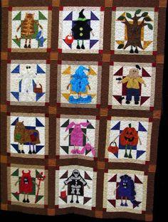 .cute halloween quilt