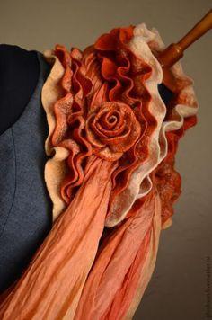 Шарфы и шарфики ручной работы. Валяный шарф-горжетка «Это моя осень» отложен. Irina Demchenko. Интернет-магазин Ярмарка Мастеров.