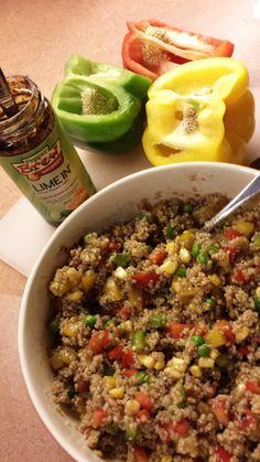 Citrus Pepper Quinoa Salad.  #quinoa #recipe #quickmeal #vegan #spicy
