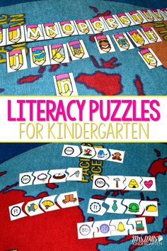 Puzzles stations and Puzzle centers for kindergarten!  These self-correcting puzzles will be a big hit for your word work activities!  Skills included:  Letters Matching Letters to Sounds Beginning Sounds Digraphs Short Vowels Long Vowels CVC Word Families