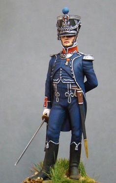 Figures: Officer, chasseurs company, 7th light infantry regt., photo #1