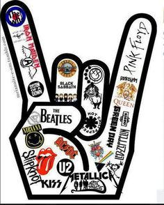 I could photoshop this and replace the names with the rock bands I love. Keeping some of the classics of course.