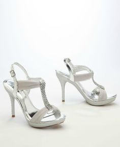 c3fdf60bd High Heel Sandal with Crystal T-Strap Style AELIZE12 Bridal Closet