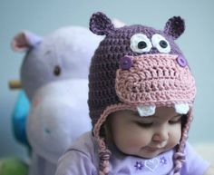DIY Crochet Hippo Hat Pattern