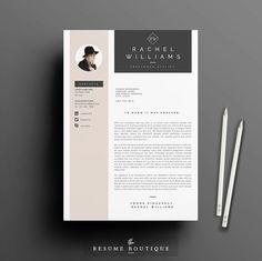 3page Resume / Lebenslauf-Vorlage Cover von TheResumeBoutique