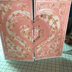 Valentine Cards, Valentine Heart, Valentines, Crafters Companion Cards, Tattered Lace Cards, Elizabeth Craft, Shaped Cards, Heartfelt Creations, Heart Cards