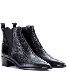 ACNE STUDIOS Jensen Leather Ankle Boots. #acnestudios #shoes #boots