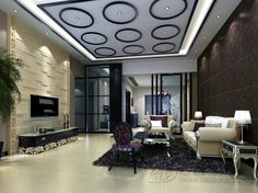 Living room ceiling interior design rendering Ceilings